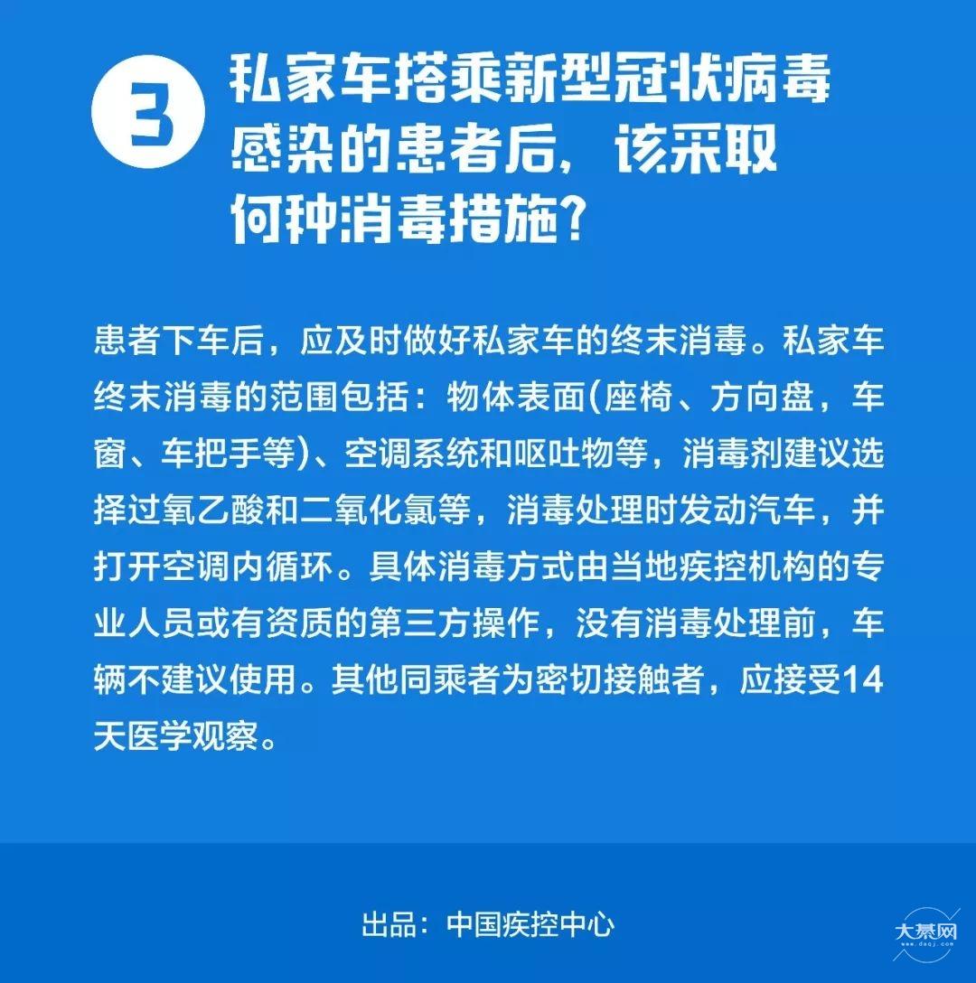 私家车如何预防新型肺炎?中国疾控中心发布提示