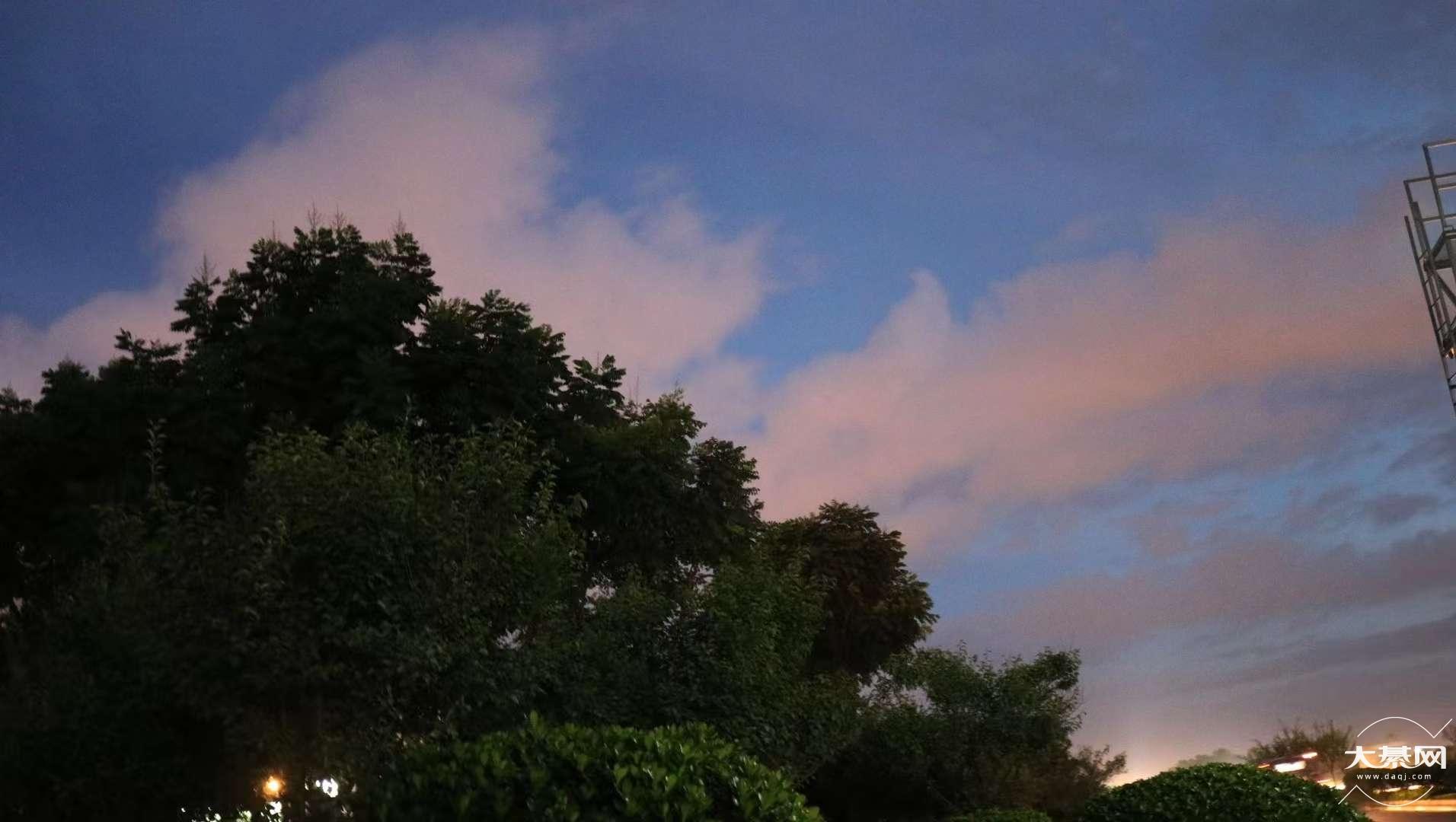 傍晚的样子